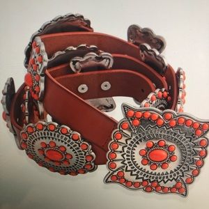 Accessories - STONE STUDDED LEATHER BELT